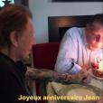 Jean-Claude Camus célébrant ses 79 ans avec son ami Johnny Hallyday, en présence de Patrick Bruel et Laeticia Hallyday au domicile du rockeur  à Marnes-la-Coquette, le 29 octobre 2017.