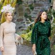 La princesse Ekaterina, épouse du prince Ernst August de Hanovre, et Alessandra de Osma, compagne du prince Christian de Hanovre, au mariage religieux du prince Ferdinand de Leiningen et de Viktoria Luise de Prusse à Amorbach en Allemagne le 16 septembre 2017.