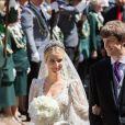 Mariage du prince Ernst August Jr de Hanovre et d'Ekaterina Malysheva en l'église Marktkirche de Hanovre le 8 juillet 2017.