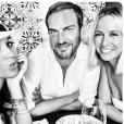 """""""Meghan Markle avec ses amis Misha Nonoo et Markus Anderson en août 2016 à Madrid. Photo Instagram Meghan Markle et Misha Nonoo."""""""