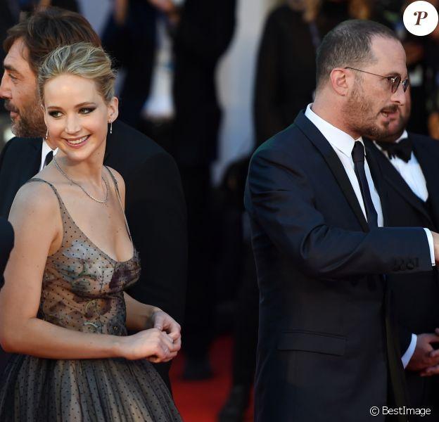 """Jennifer Lawrence et Darren Aronofsky à la première de """"Mother !"""" à la 74ème édition de la Mostra de Venise, le 5 septembre 2017."""
