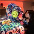 Exclusif - Agathe Auproux - Cocktail d'inauguration de la première galerie Pop Art Concept store entièrement dédié aux oeuvres de Richard Orlinski à Paris, le 23 novembre 2017. © Rachid Bellak/Bestimage
