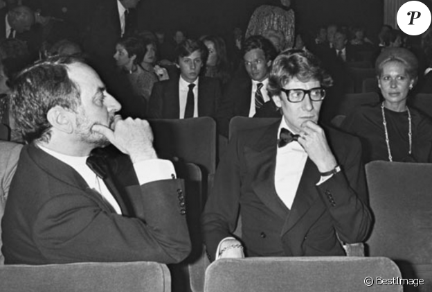 Le couple mythique Yves Saint Laurent et Pierre Bergé en 1976.