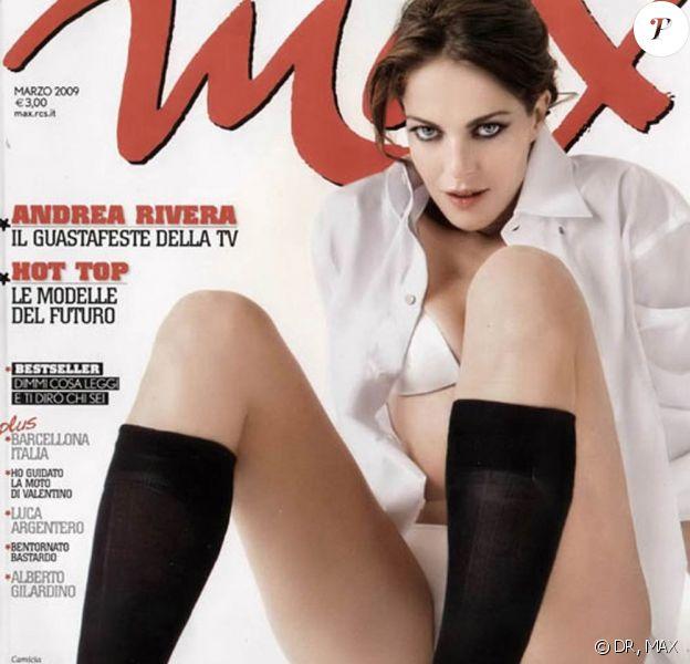 """L'actrice italienne Claudia Gerini en couverture du magazine """"Max""""... c'est très beau !"""