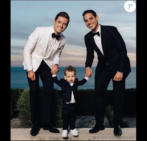 Image du mariage de Robbie Rogers et Greg Berlanti. Instagram, décembre 2017