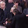 Emmanuel Macron aux obsèques de Johnny Hallyday à Paris. Le 9 décembre 2017.