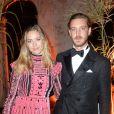 """Beatrice Borromeo et son mari Pierre Casiraghi sont devenus en février 2017 les parents d'un petit  Stefano Ercole Carlo.  (Ici lors du dîner des """"Franca Sozzani Awards"""" au 74ème Festival International du Film de Venise, le 1er septembre 2017)."""