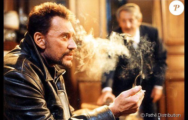 """Johnny Hallyday et Jean Rochefort dans """"L'homme du train"""", de Patrice Leconte, en 2002."""