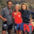 Yannick Noah en vacances au Cap Vert avec sa femme Isabelle et leur fils Joalukas. Décembre 2017.