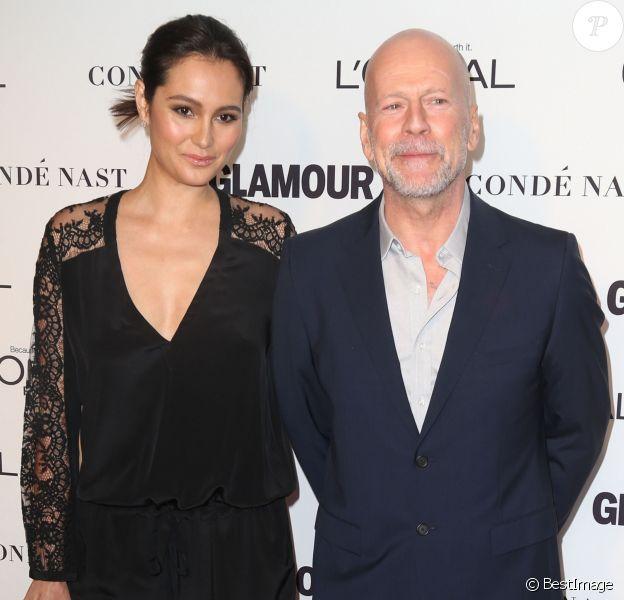 "Bruce Willis, Emma Heming à la soirée ""Glamour 2014 Women Of The Year Awards"" à New York, le 10 novembre 2014"