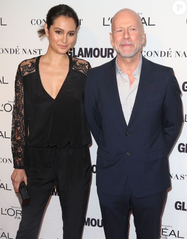 "Bruce Willis, Emma Heming à la soirée ""Glamour 2014 Women Of The Year Awards"" à New York, le 10 novembre 2014"