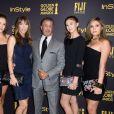 Sylvester Stallone et Jennifer Flavin avec leurs filles, Scarlet Rose Stallone, Lorenzo Soria, Sophia Rose Stallone et Sistine Rose Stallon - 10/11/2016 - Los Angeles