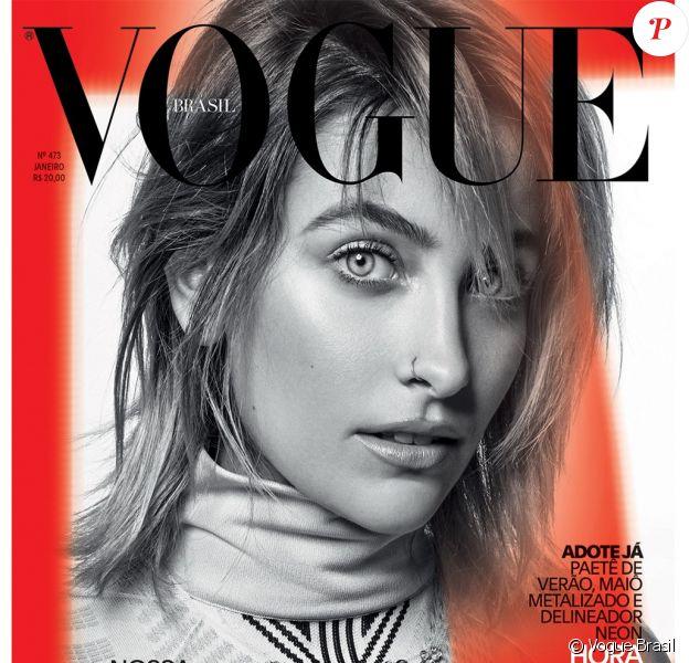 Paris Jackson en couverture de l'édition brésilienne de Vogue. Photo par Jacques Dequeker.