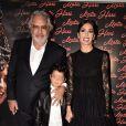 "Flavio Briatore, sa femme Elisabetta Gregoraci et leur fils Nathan Falco - Première du film ""Mata Hari"" à Rome. Le 19 octobre 2016"