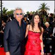 Flavio Briatore et Elisabetta Gregoraci au Festival de Cannes, le 23 mai 2006.