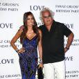 """Elisabetta Gregoraci et son mari Flavio Briatore - Soirée d'anniversaire """"Love"""" pour les 63 ans de Fawaz Gruosi à l'hôtel Cala di Volpe à Porto Cervo, le 9 août 2015."""
