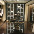 à la soirée Cavalli pour l'ouverture de la nouvelle boutique à Paris samedi soir