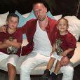 Franck Ribéry en famille pour les fêtes de fin d'année, aux Maldives. Phot publiée sur Instagram, le 25 décembre 2017.