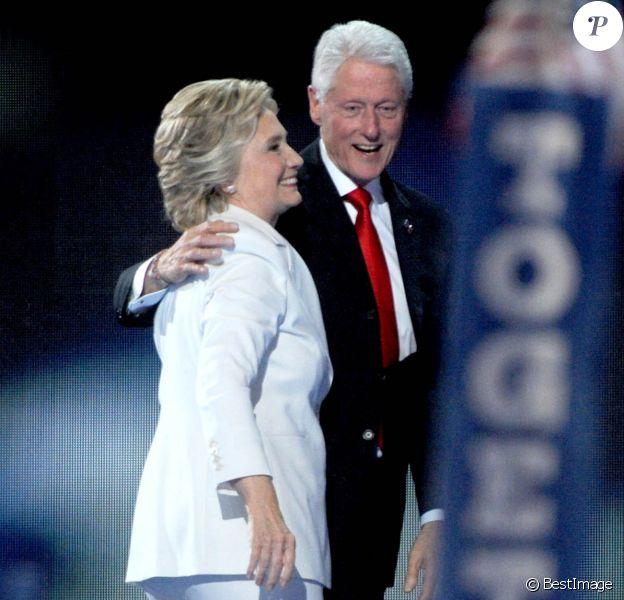 Bill Clinton et sa femme Hillary Clinton - 4 ème jour de la Convention Démocrate à Philadelphie le 28 juillet 2016.