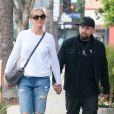Exclusif - Cameron Diaz et son mari Benji Madden se promènent en amoureux dans les rues de Los Angeles, Californie, Etats-Unis, le 12 septembre 2016.12/09/2016 - Los Angeles