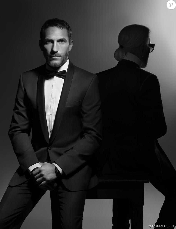 Sebastien Jondeau et Karl Lagerfeld. Photo par Karl Lagerfeld.