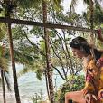Laury Thilleman et son compagnon en vancances en Colombie. Janvier 2018.