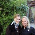 Natacha Régnier avec Agnès B au défilé Agnès B ce mardi matin à Paris