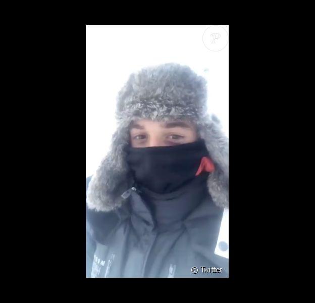 Hugo Clément en Sibérie le 5 janvier 2018.