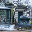 Illustration du caveau familial au cimetière de Montmartre où France Gall rejoindra sa fille Pauline Hamburger et son mari Michel Berger. Paris le 9 janvier 2018.