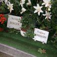 La tombe de Michel Berger et sa fille Pauline Hamburger au cimetière Montmartre à Paris, en 2007.