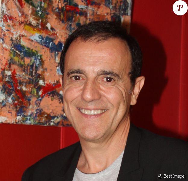 """Exclusif - Thierry Beccaro - Vernissage de l'exposition de Thierry Beccaro sur le thème de la """"Promenade acrylique"""" à l'hôtel Renaissance à Paris le 21 septembre 2015."""