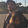 Jérémy Chatelain et sa fille Annily, le 29 juillet 2017 aux Etats-Unis.