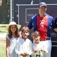 Semi-exclusif - Louis de Bourbon (Luis Alfonso de Borbon), duc d'Anjou, avec ses enfants Eugenia et Louis et Alphonse lors d'un match de polo pendant ses vacances en famille, à Cadix, Sotogrande, Espagne, le 13 août 2016.