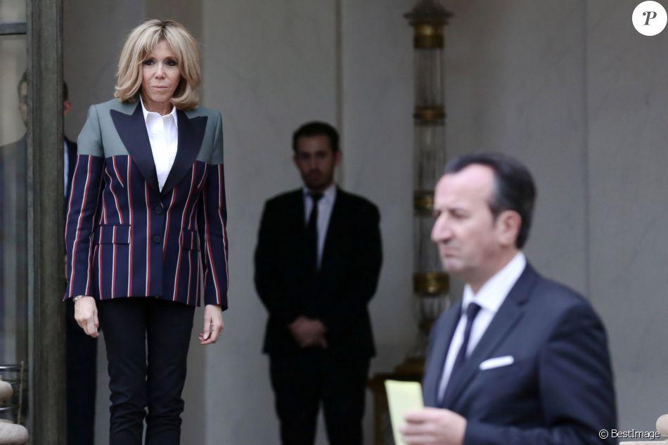 José Pietroboni, chef du protocole - Brigitte Macron accueille Emine Erdogan, la femme du président de la Turquie, au palais de l'Elysée à Paris le 5 janvier 2018. © Stéphane Lemouton / Bestimage