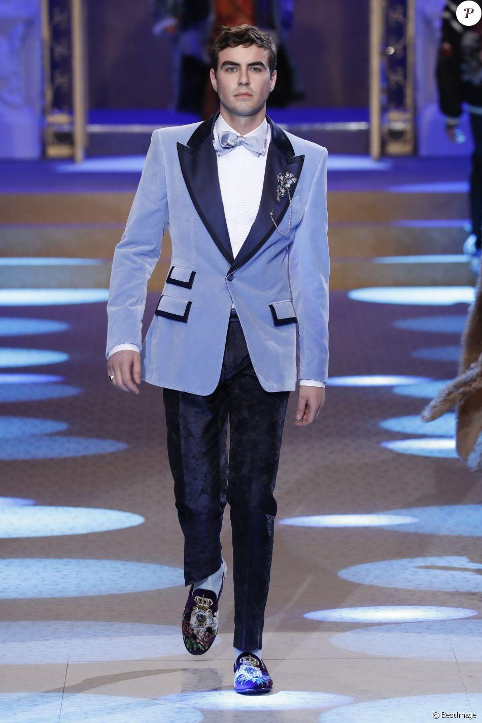 55704682 Maximillian Dodd Noble - Défilé Dolce & Gabbana lors de la Fashion Week à  Milan, Italie, le 13 janvier 2018.
