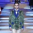 Gabriel-Kane Day-Lewis (fils d'Isabelle Adjani et Daniel Day-Lewis) - Défilé Dolce & Gabbana lors de la Fashion Week à Milan, Italie, le13 janvier 2018.