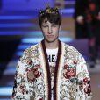 L'influenceur et vlogueur Juan Pablo Zurita - Défilé Dolce & Gabbana lors de la Fashion Week à Milan, Italie, le13 janvier 2018.
