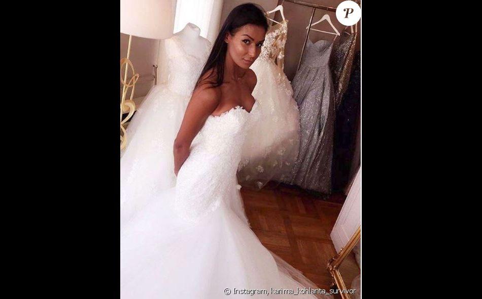 1252d67fbb5aa Karima de  quot koh-Lanta Thaïlande quot  en robe de mariée, Instagram,