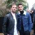 Nicolas Duvauchelle et Pierre Niney - Défilé de mode Dior Homme collection Automne/Hiver 2018/2019 à Paris, le 20 janvier 2018. © CVS / Veeren / Bestimage