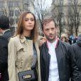 Nicolas Duvauchelle et sa compagne Anouchka Alsif - Défilé de mode Dior Homme collection Automne/Hiver 2018/2019 à Paris, le 20 janvier 2018. © CVS / Veeren / Bestimage