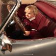 """Le prince Jacques de Monaco au volant d'une vieille Bugatti. La princesse Charlene de Monaco a publié le 21 janvier 2018 sur son compte Instagram des photos de ses enfants le prince Jacques et la princesse Gabriella prises lors d'une """"matinée fun"""" où ils ont joué au square et visité l'exposition Bugatti aux Terrasses de Fontvieille."""