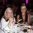 Exclusif - Hélène Darroze et Laeticia Hallyday (pour l'association La Bonne Etoile) - 7ème édition du dîner du Global Gift Gala organisé au Four Seasons Hôtel George V à Paris. Le 9 mai 2016. © Dominique Jacovides / Bestimage