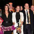 Pauline Ducruet, la princesse Stéphanie de Monaco et le prince Albert II de Monaco lors de la soirée de remise des prix du 42ème Festival International du Cirque de Monte Carlo le 23 janvier 2018. © Bruno Bebert/Bestimage