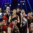 Le prince Albert II de Monaco et la princesse Stéphanie de Monaco ont remis un Clown d'Or à la Troupe Acrobatique de Shangai lors de la soirée de remise des prix du 42ème Festival International du Cirque de Monte Carlo le 23 janvier 2018. © Bruno Bebert/Bestimage