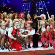 La princesse Stéphanie de Monaco remet la Mention Spéciale du Jury à la Troupe Bingo lors de la soirée de remise des prix du 42ème Festival International du Cirque de Monte Carlo le 23 janvier 2018. © Bruno Bebert/Bestimage