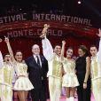 Le prince Albert II de Monaco et la princesse Stéphanie de Monaco ont décerné un Clown d'Or à Merrylu et Jozseph Richter lors de la soirée de remise des prix du 42ème Festival International du Cirque de Monte Carlo le 23 janvier 2018. © Claudia Albuquerque/Bestimage