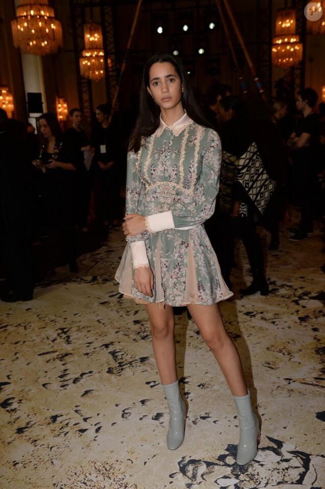 """Iman Pérez - Défilé de mode """"Zuhair Murad"""", collection Haute-Couture printemps-été 2018, à Paris le 24 janvier 2018. © Rachid Bellak/Bestimage"""