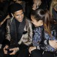 """Dani Alves, Hiba Abouk - Défilé de mode """"Zuhair Murad"""", collection Haute-Couture printemps-été 2018, à Paris le 24 janvier 2018. © Marc Ausset-Lacroix/Bestimage"""