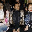 """Dani Alves, Hiba Abouk et Iman Pérez - Défilé de mode """"Zuhair Murad"""", collection Haute-Couture printemps-été 2018, à Paris le 24 janvier 2018. © Marc Ausset-Lacroix/Bestimage"""