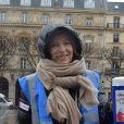 """Valérie Trierweiler lors du lancement de la campagne du Secours Populaire """"Don'Actions"""" sur le parvis de l'hôtel de ville de Paris le 20 janvier 2018. © Giancarlo Gorassini / Bestimage"""